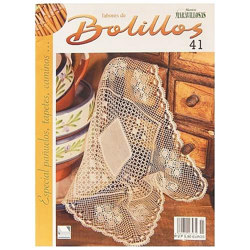 Labores de BOLILLOS 41, eine spanische Zeitschrift, Klöppelbriefe zu unterschiedlichen Themen, wie Torchon, Schals, Fächer, Taschen, Bänderspitze, usw. in der Klöppelwerkstatt erhältlich.