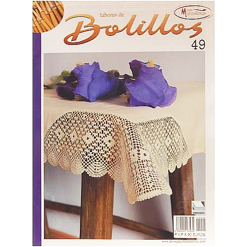 Labores de BOLILLOS 4, eine spanische Zeitschrift, Klöppelbriefe zu unterschiedlichen Themen, wie Torchon, Schals, Fächer, Taschen, Bänderspitze, usw. in der Klöppelwerkstatt erhältlich.9