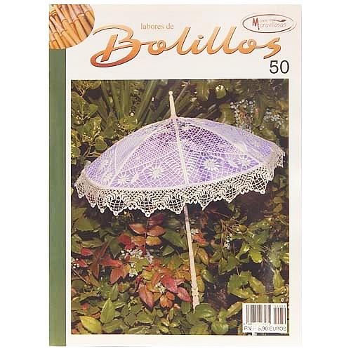Labores de BOLILLOS 50, eine spanische Zeitschrift, Klöppelbriefe zu unterschiedlichen Themen, wie Torchon, Schals, Fächer, Taschen, Bänderspitze, usw. in der Klöppelwerkstatt erhältlich.