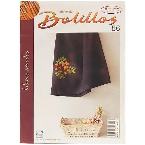 Labores de BOLILLOS 56, eine spanische Zeitschrift, Klöppelbriefe zu unterschiedlichen Themen, wie Torchon, Schals, Fächer, Taschen, Bänderspitze, usw. in der Klöppelwerkstatt erhältlich.