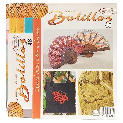 Labores de BOLILLOS, Titelbild, eine spanische Zeitschrift, Klöppelbriefe zu unterschiedlichen Themen, wie Torchon, Schals, Fächer, Taschen, Bänderspitze, usw. in der Klöppelwerkstatt erhältlich.