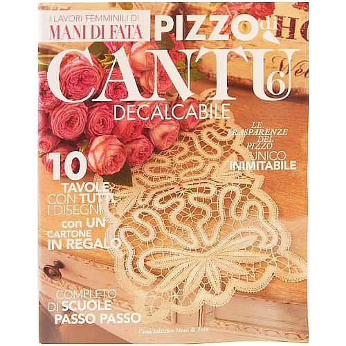 Pizzo di Cantu 6 - in der Klöppelwerkstatt, italienische Zeitschrift, klöppeln, Cantu Spitze