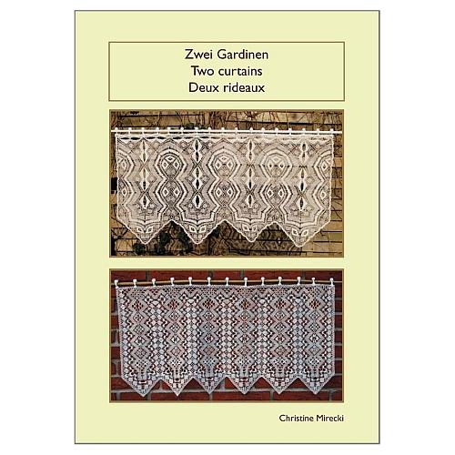 Zwei Gardinen - 2 curtains - 2 rideaux ~ Christine Mirecki, in der Klöppelwerkstatt, Klöppelbriefe u. Anleitung für 2 Gardinen in Torchon-Technik, klöppeln