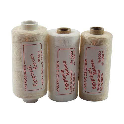 Egyptische Baumwolle Ne 100-2, 100% mercerisierte Baumwolle, in den Farben: optisch weiss und ecru, sehr gut zum klöppeln, häkeln, nähen, geeignet. Auch Ägyptische Baumwolle genannt, Garn,
