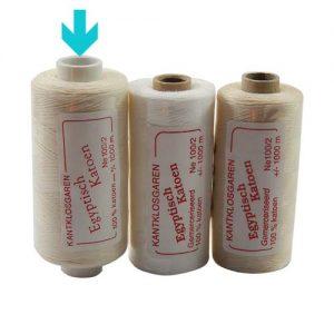 3 Rollen Egyptische Baumwolle Ne 100-2 markiert ist die Farbe opt. weiss