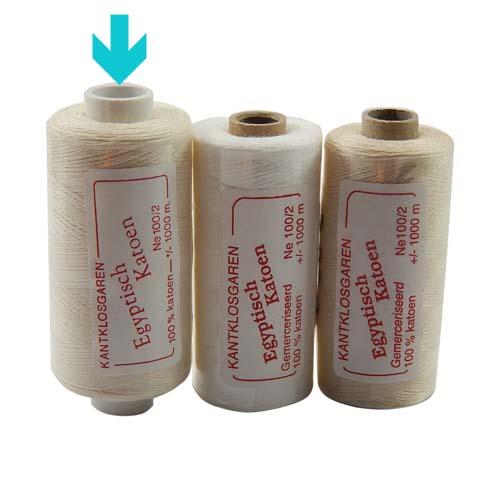 Egyptische Baumwolle Ne 100-2, 100% mercerisierte Baumwolle, in den Farben: optisch weiss und ecru, sehr gut zum klöppeln, häkeln, nähen, geeignet. Auch Ägyptische Baumwolle genannt, Garn, markiert ist die Farbe opt. weiss