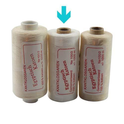 Egyptische Baumwolle Ne 100-2, 100% mercerisierte Baumwolle, in den Farben: optisch weiss und ecru, sehr gut zum klöppeln, häkeln, nähen, geeignet. Auch Ägyptische Baumwolle genannt, Garn, markiert ist die Farbe weiss