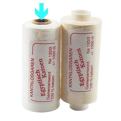 Egyptische Baumwolle Ne 120-2, 100% mercerisierte Baumwolle, in den Farben: optisch weiss und ecru, sehr gut zum klöppeln, häkeln, nähen, geeignet. Auch Ägyptische Baumwolle genannt, Garn, mrkiert ist die Farbe opt. weiss