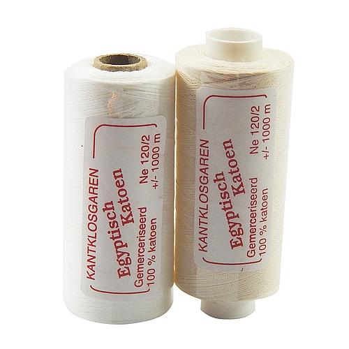 Egyptische Baumwolle Ne 120-2, 100% mercerisierte Baumwolle, in den Farben: optisch weiss und ecru, sehr gut zum klöppeln, häkeln, nähen, geeignet. Auch Ägyptische Baumwolle genannt, Garn,