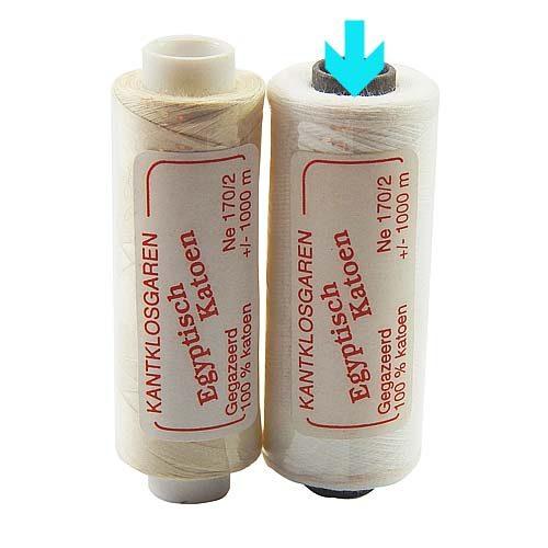 Egyptische Baumwolle Ne 170-2, 100% mercerisierte Baumwolle, in den Farben: optisch weiss und ecru, sehr gut zum klöppeln, häkeln, nähen, geeignet. Auch Ägyptische Baumwolle genannt, Garn, markiert ist die Farbe opt. weiß