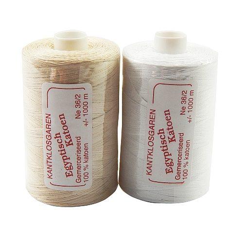 2 Rollen Egyptische Baumwolle Ne 36-2 in der Klöppelwerkstatt