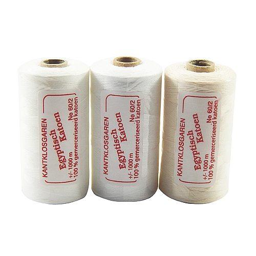 Egyptische Baumwolle Ne 36-2, 100% mercerisierte Baumwolle, in den Farben: optisch weiss und ecru, sehr gut zum klöppeln, häkeln, nähen, geeignet. Auch Ägyptische Baumwolle genannt, Garn
