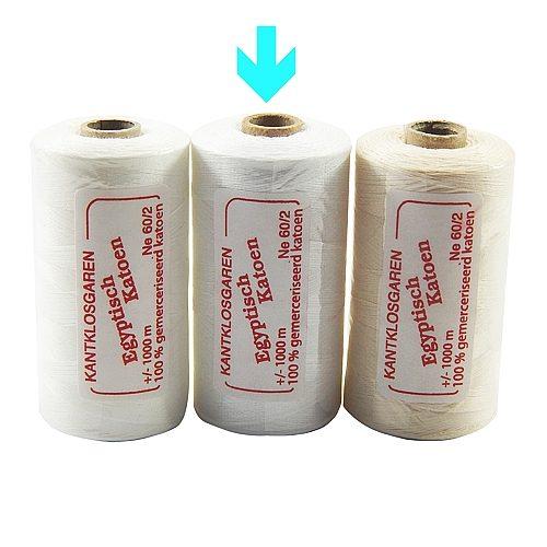 Egyptische Baumwolle Ne 36-2, 100% mercerisierte Baumwolle, in den Farben: optisch weiss und ecru, sehr gut zum klöppeln, häkeln, nähen, geeignet. Auch Ägyptische Baumwolle genannt, Garn, markiert ist die Farbe weiss