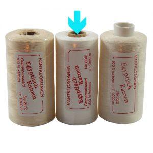 3 rollen egyptische Baumwolle Ne 80-2, auf dem Bild ist weiss markiert