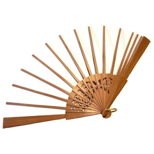 Fächer Modell Madrid und Brief Torchonfächer, 1 Fächergestell BS-AB12L in der Holzart Peral, in der Klöppelwerkstatt erhältlich