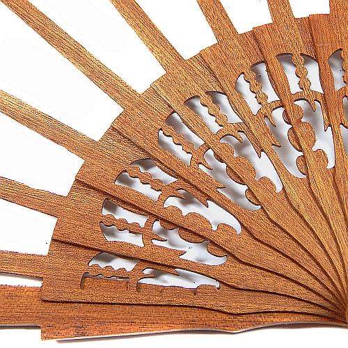 Fächer Modell Madrid und Brief Torchonfächer, 1 Fächergestell in der Holzart Mahagonie Ornament, in der Klöppelwerkstatt erhältlich
