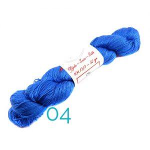 Fresia Seide, 100 % Seide, zum klöpeln, stricken und häkeln in der Farbe 04 blau