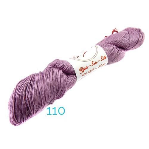 Fresia Seide, 100 % Seide, zum klöpeln, stricken und häkeln in der Farbe 110, flieder