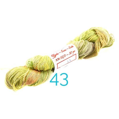 Fresia Seide, 100 % Seide, zum klöpeln, stricken und häkeln in der Farbe 43 rose, grün, lichttürkis