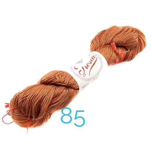 Fresia Seide, 100 % Seide, zum klöpeln, stricken und häkeln in der Farbe 85, cacau-braun