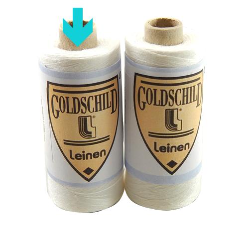 Goldschild Leinengarn Nel 100/2, in weiß, Handarbeitsgarn aus 100 % Leinen, Flach, gesponnen. Zum Klöppeln, Häkeln, sticken, Modellbau und Buchbinden bestens geeignet, in der Klöppelwerkstatt erhältlich.