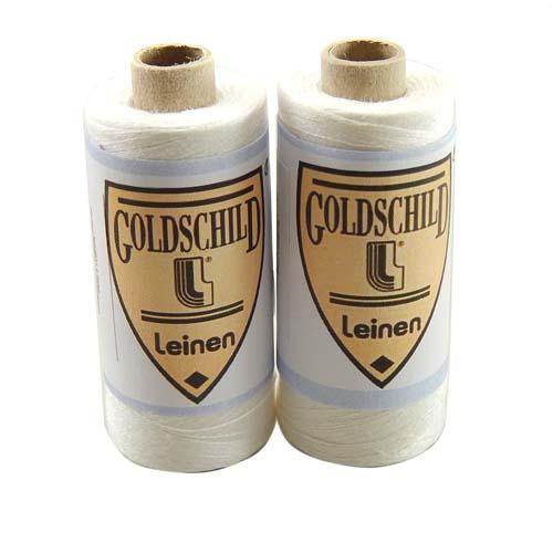 Goldschild Leinengarn Nel 100/2, Handarbeitsgarn aus 100 % Leinen, Flach, gesponnen. Zum Klöppeln, Häkeln, sticken, Modellbau und Buchbinden bestens geeignet, in der Klöppelwerkstatt erhältlich.