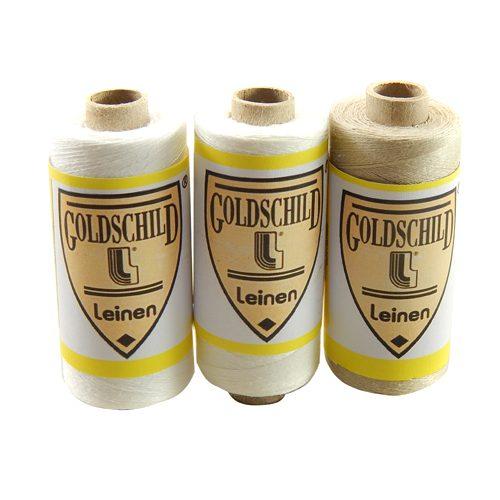 Goldschild Leinengarn Nel 100/3, Handarbeitsgarn aus 100 % Leinen, Flach, gesponnen. Zum Klöppeln, Häkeln, sticken, Modellbau und Buchbinden bestens geeignet, in der Klöppelwerkstatt erhältlich.