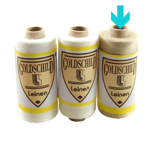 Goldschild Leinengarn Nel 100/3, in natur, Handarbeitsgarn aus 100 % Leinen, Flach, gesponnen. Zum Klöppeln, Häkeln, sticken, Modellbau und Buchbinden bestens geeignet, in der Klöppelwerkstatt erhältlich.