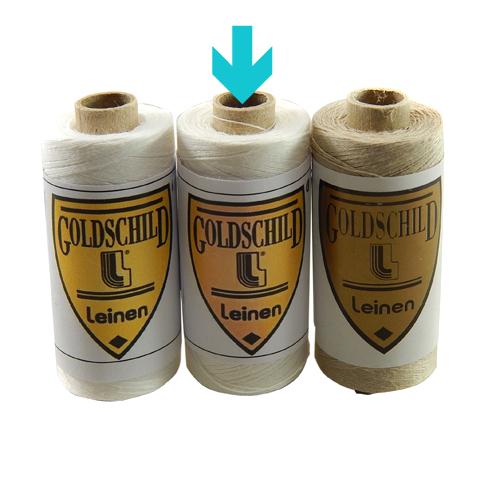Goldschild Leinengarn Nel 80/3, halbgebleicht, Handarbeitsgarn aus 100 % Leinen, Flach, gesponnen. Zum Klöppeln, Häkeln, sticken, Modellbau und Buchbinden bestens geeignet, in der Klöppelwerkstatt erhältlich.