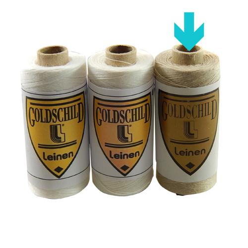 Goldschild Leinengarn Nel 80/3,in natur, Handarbeitsgarn aus 100 % Leinen, Flach, gesponnen. Zum Klöppeln, Häkeln, sticken, Modellbau und Buchbinden bestens geeignet, in der Klöppelwerkstatt erhältlich.