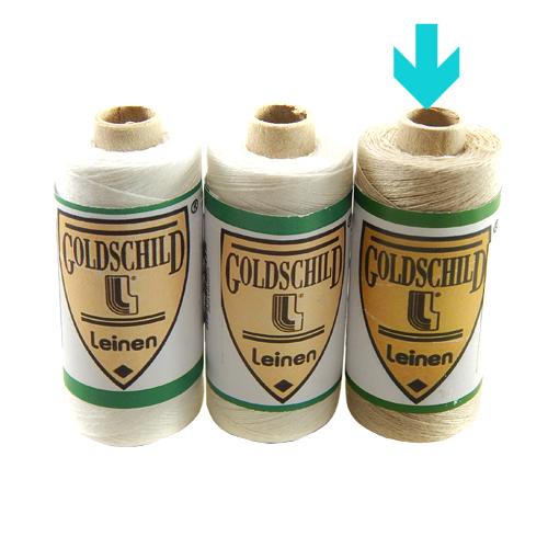 Goldschild Leinengarn Nel 50/3 in natur, Handarbeitsgarn aus 100 % Leinen, Flach, gesponnen. Zum Klöppeln, Häkeln, sticken, Modellbau und Buchbinden bestens geeignet, in der Klöppelwerkstatt erhältlich.