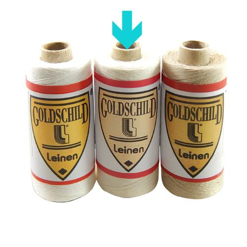 Goldschild Leinengarn Nel 66/3 in halbgebleicht, Handarbeitsgarn aus 100 % Leinen, Flach, gesponnen. Zum Klöppeln, Häkeln, sticken, Modellbau und Buchbinden bestens geeignet, in der Klöppelwerkstatt erhältlich.