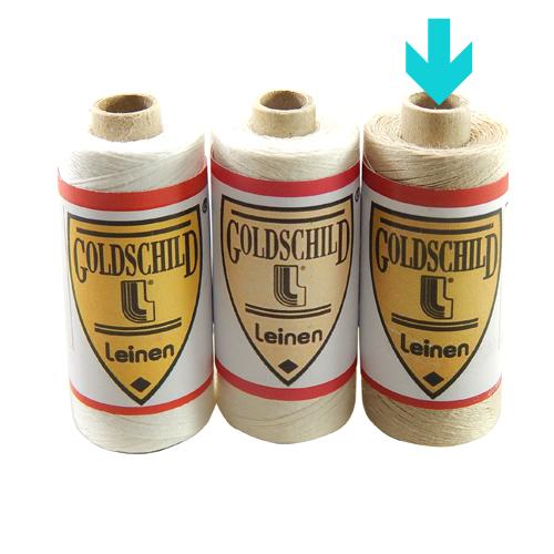 Goldschild Leinengarn Nel 66/3 in natur, Handarbeitsgarn aus 100 % Leinen, Flach, gesponnen. Zum Klöppeln, Häkeln, sticken, Modellbau und Buchbinden bestens geeignet, in der Klöppelwerkstatt erhältlich.