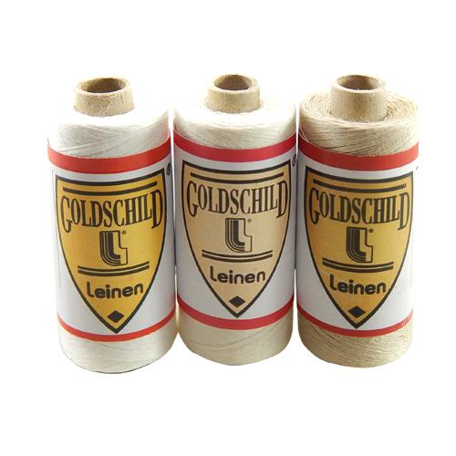 Goldschild Leinengarn Nel 66/3, Handarbeitsgarn aus 100 % Leinen, Flach, gesponnen. Zum Klöppeln, Häkeln, sticken, Modellbau und Buchbinden bestens geeignet, in der Klöppelwerkstatt erhältlich.