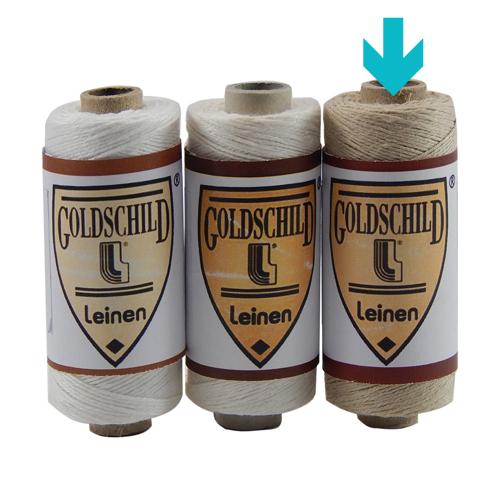 Goldschild Leinengarn Nel 18/3 Handarbeitsgarn aus 100 % Leinen, Flach, gesponnen. Zum Klöppeln, Häkeln, sticken, Modellbau und Buchbinden bestens geeignet, in natur, in der Klöppelwerkstatt.