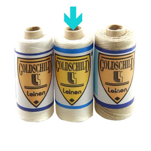 Goldschild Leinengarn Nel 30/3 in halbgebleicht, Handarbeitsgarn aus 100 % Leinen, Flach, gesponnen. Zum Klöppeln, Häkeln, sticken, Modellbau und Buchbinden bestens geeignet, in der Klöppelwerkstatt erhältlich.