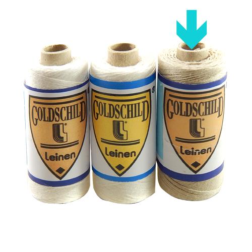 Goldschild Leinengarn Nel 30/3 in natur, Handarbeitsgarn aus 100 % Leinen, Flach, gesponnen. Zum Klöppeln, Häkeln, sticken, Modellbau und Buchbinden bestens geeignet, in der Klöppelwerkstatt erhältlich.