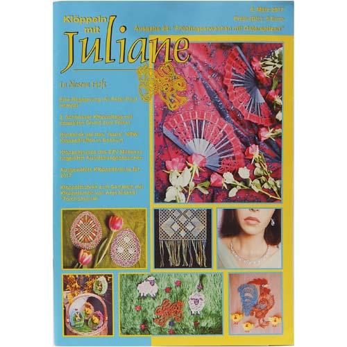 Klöppeln mit Juliane Heft 28, in der Klöppelwerkstatt, Klöppeln, Erzgebirgische Zeitschrift