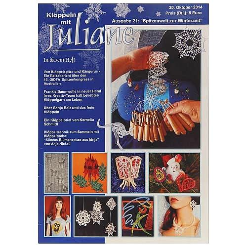 Klöppeln mit Juliane Heft 21 in der Klöppelwerkstatt, Klöppeln, Erzgebirgische Zeitschrift