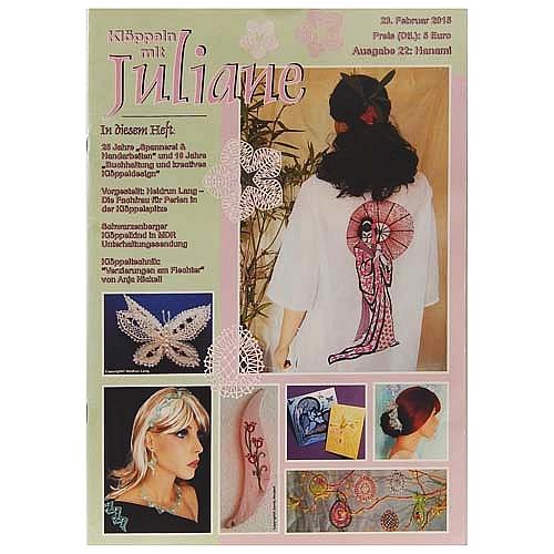 Klöppeln mit Juliane Heft 22 in der Klöppelwerkstatt, Klöppeln, Erzgebirgische Zeitschrift
