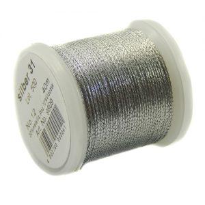 1 Spule Madeira Metallic No 12 in der Farbe silber 31