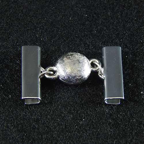 1 Magnetverschluss mit Klemme 14282 zum festklemmen der Spitze. Nur in der Klöppelwerkstatt erhältlich, rhodiniert 20mm