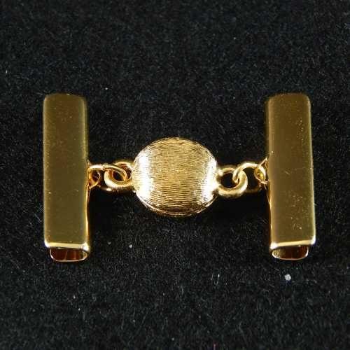 1 Magnetverschluss mit Klemme 14282 zum festklemmen der Spitze. Nur in der Klöppelwerkstatt erhältlich, vergoldet 25mm