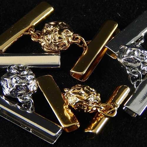 Magnetverschluss mit Klemme 14521 zum festklemmen der Spitze. Nur in der Klöppelwerkstatt erhältlich, vergoldet o. rhodiniert in 20 o. 25mm Breite