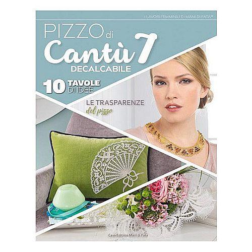 Pizzo di Cantu 7, in der Klöppelwerkstatt, Spitzen in verschiedene Techniken, vorwiegend Brügger Blumenwerk, Cantu und Bänderspitze, klöppeln, italienische Zeitschrift