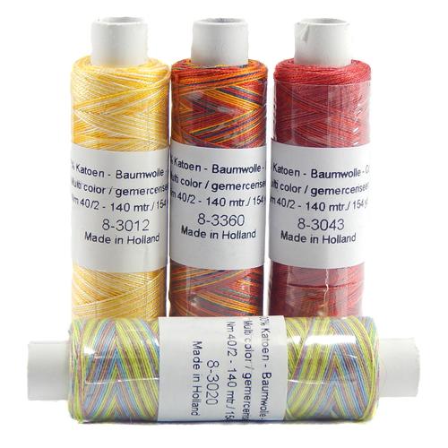 Venne Colcoton meliert ~ in 39 Farben - Klöppelwerkstatt, 100% mercerisierte Baumwolle, zum klöppeln, weben, stricken, häkeln geeignet
