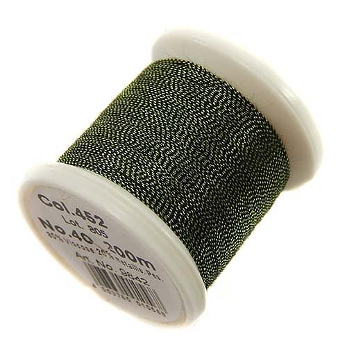1 Spule Madeira Metallic No 40 Soft Garn in der Farbe malachite 452