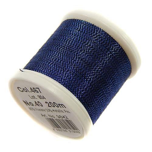 1 Spule Madeira Metallic No 40 Soft Garn in der Farbe lapis 467