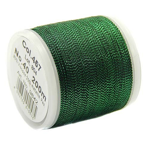 1 Spule Madeira Metallic No 40 Soft Garn in der Farbe Emerald 457