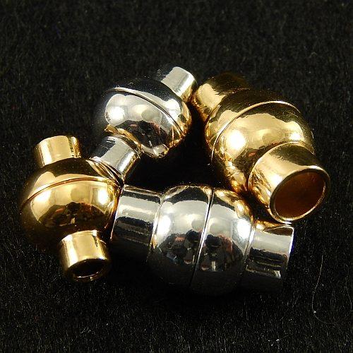 Magnetverschlüsse 14737 und 14750, rhodiniert und vergoldet